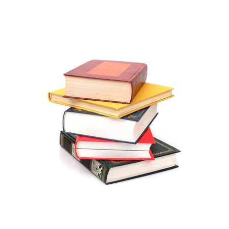 Stack of books isolated on a white background