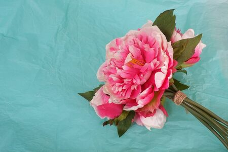Bouquet of pink peonies for a holiday or event