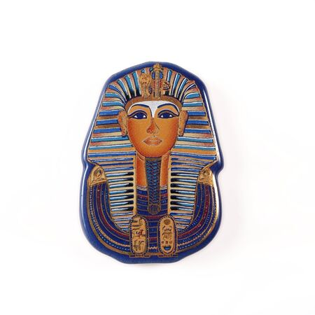 Souvenir (magnet) from Egypt isolated on white background.