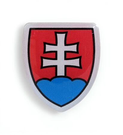 Souvenir (magnet) from Slovakia isolated on white background