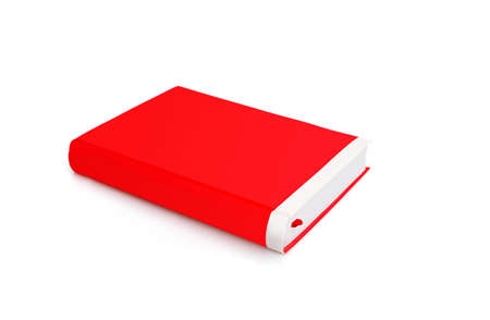 Book in color covers with white sheets isolated on a white background