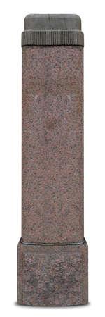 Granite corinthian column on a white background. Banco de Imagens