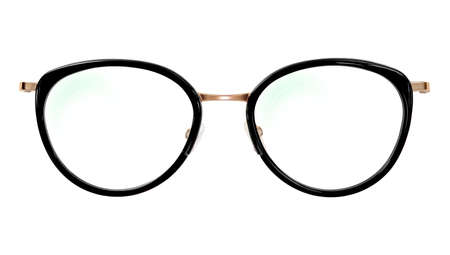 Glasses isolated on white background for applying on a portrait. Standard-Bild