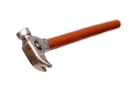Little hammer isolated on a white background