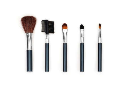 A set of brushes for makeup isolated on a white background