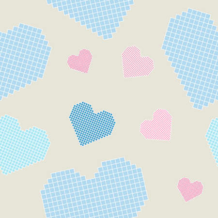 """Seamless pattern: hearts (similar to embroidery """"cross"""")"""