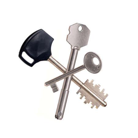 Mockup door key isolated on white background 免版税图像