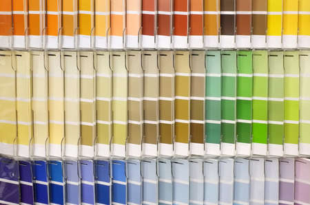 Horizontal Color Palette Guide. Sample Colors Catalog. Multicolored bright background 免版税图像