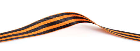 Black and orange ribbon of the Order of Saint George isolated on white background