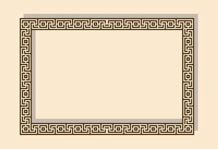 Vector frame as traditional Greek geometric ornament Vectores