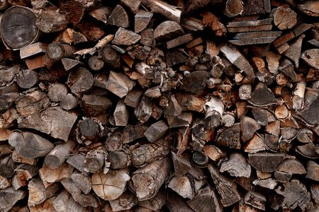 image wood prepared for winter for heating the house