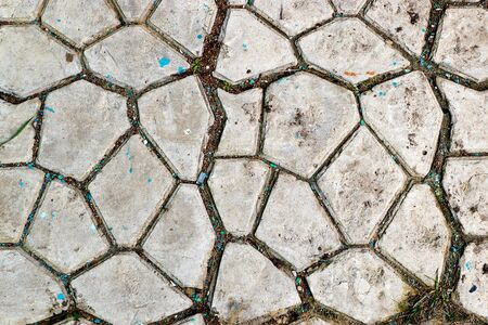 Abstract gray paving slabs in the form of squares