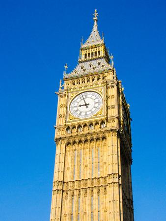 Big Ben clock tower in London Stock Photo
