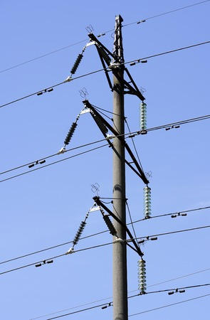 high-voltage power line Stockfoto