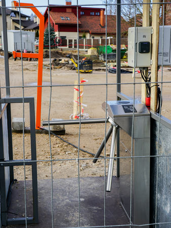 entry control system in the workplace on the construction site Reklamní fotografie