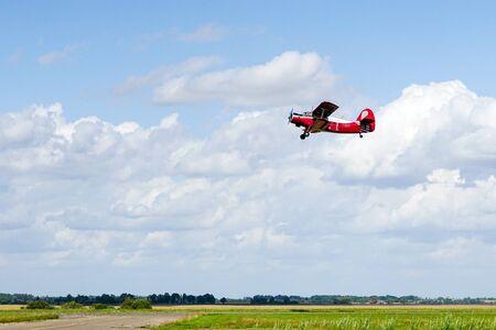 historical mass produced single engine airplane Antonov AN2 in flight