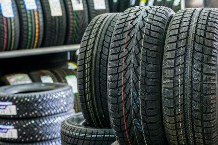 new winter tires without studs at tire shop