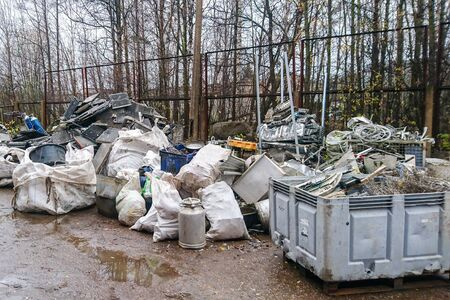 household and automotive non ferrous metal scrap collection point