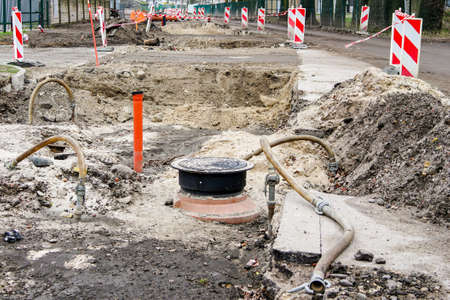 reconstruction of the city street, replacement of underground communications pipes