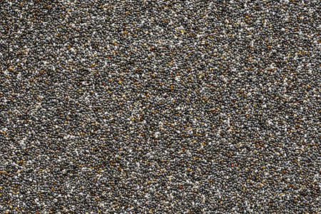 chia seeds background, closeup of a lot of chia seeds Stock fotó