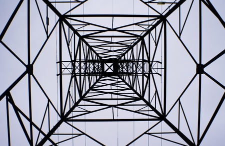 Electric transmission tower as abstract design