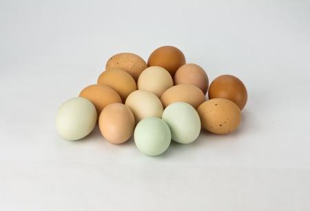 Heirloom fresh chicken eggs assorted colors
