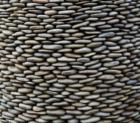Background of arranged pebbles stones or rocks Stock Photo - 11803979