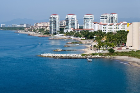 The waterfront and skyline of Puerto Vallarta Stock Photo