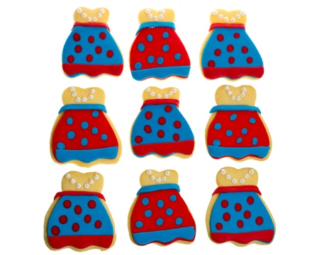 A group of nine decorated sugar cookies Stock Photo