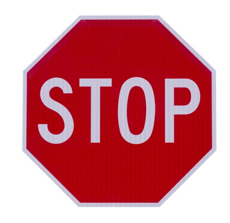 Stop traffic warning road sign Banco de Imagens