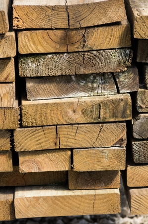 Stack of dried lumber for use in construction Stock fotó