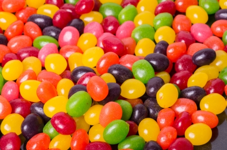 Bright colorful jelly bean background Stock Photo
