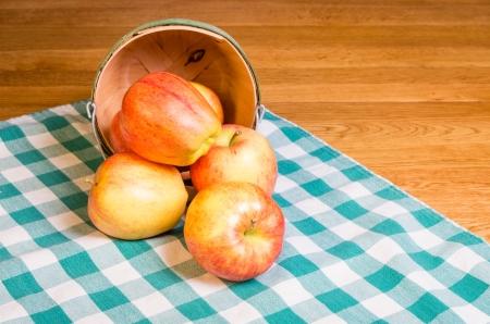 Fresh Gala apples in a wicker basket Stock Photo - 17571693