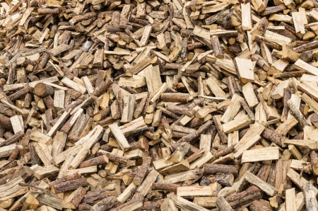 A large pile of firewood split and ready to use Banco de Imagens
