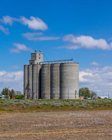 Concrete grain storage facility with silos