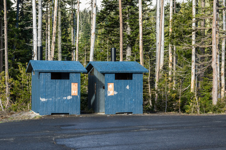 A public toilet in the national forest