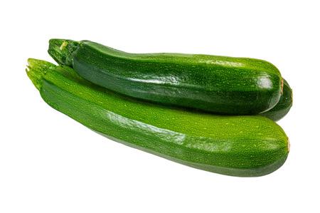 Zucchini summer squash isolated on white