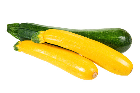 Zucchini and summer squash isolated on white Banco de Imagens