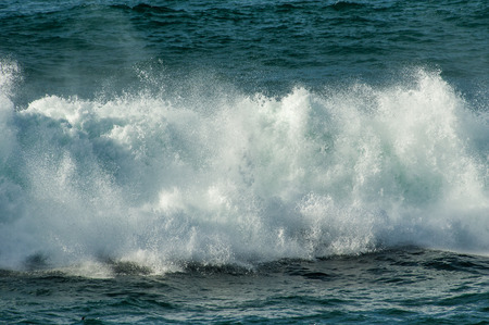 breaking wave: White water surf and froth from breaking wave Stock Photo