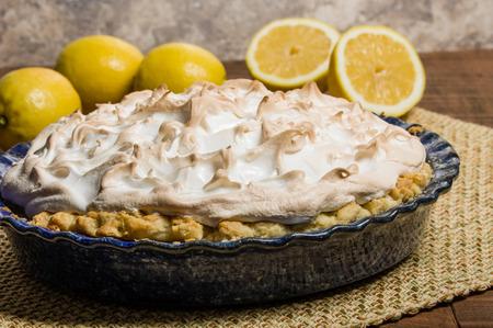 filling: Lemon filling pie with meringue topping