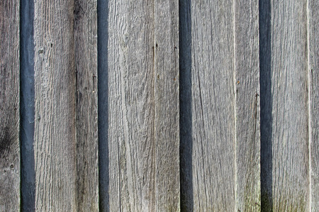 worn structure: Gray wooden siding with textured grain for use as background