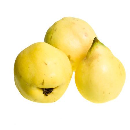 Fresh quince fruit isolated on white background Stock Photo