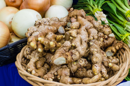 ginger root: Fresh ginger root at the farmers market Stock Photo