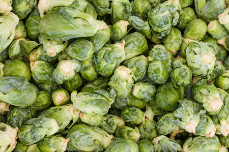 Display of fresh brussel sprouts at the farmers market Reklamní fotografie