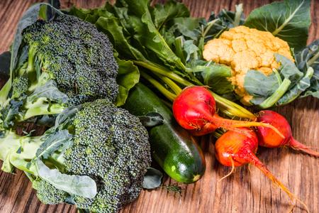Group of vegetables from the garden for preparing dinner Banco de Imagens