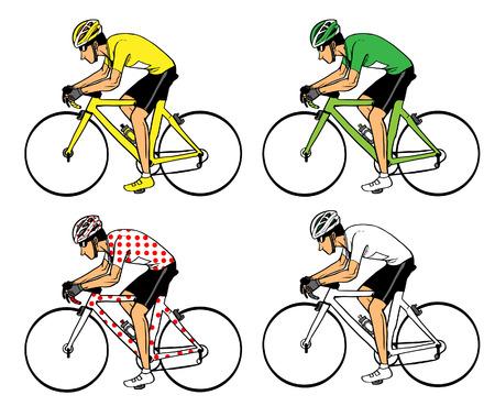 cycling: Cycling Illustration