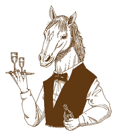 caballo bebe: Caballo manso