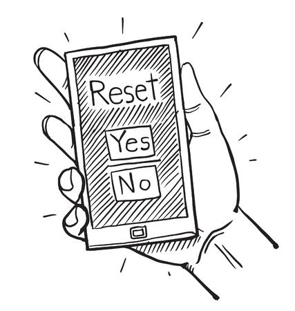 cellphone: Cellphone resetting Illustration