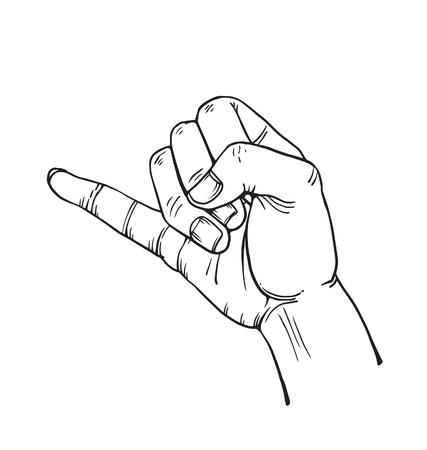 dedo meÑique: dedo meñique Vectores