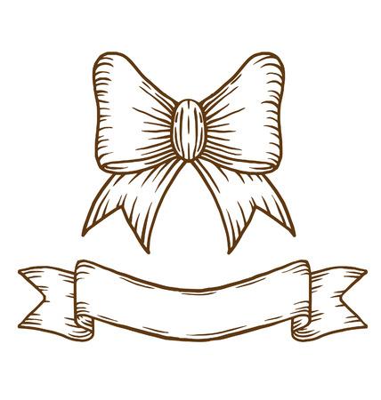Bow and ribbon Illustration